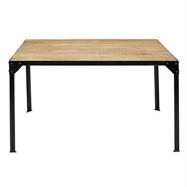 Vous aimez le style industriel ? Choisissez sans attendre notre table de salle à manger en manguier massif et métal noir 6 personnes L140 FACTORY . Elle apportera un cachet ...