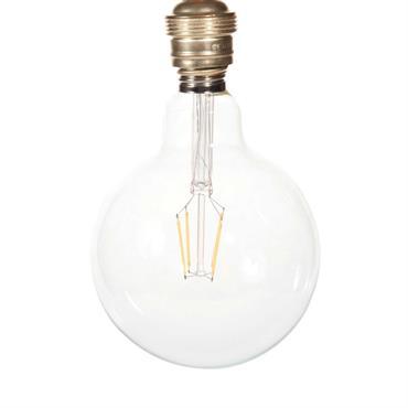 Ampoule led en verre D 13 cm GLOBUS CLEAR