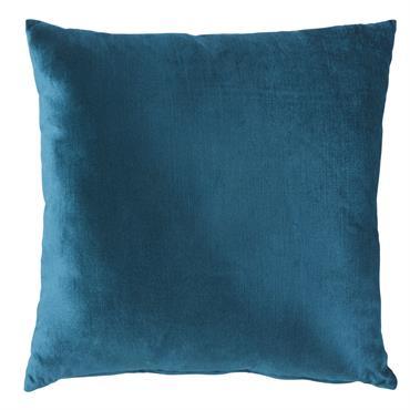 Craquez pour le toucher ultra soft du coussin en velours bleu canard VENEZIA . Il apportera de l'élégance et de la douceur à un canapé cosy ou à une parure ...