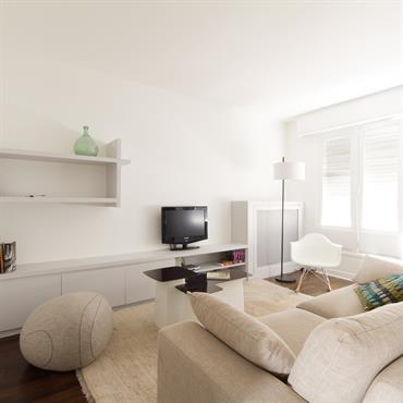 Aménagement d'un appartement, 49m², Paris. Conception, maitrise d'ouvrage, mobilier.  Domozoom
