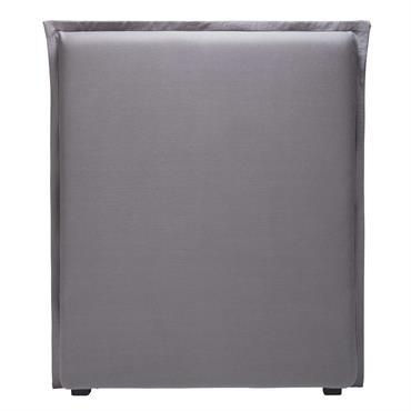 Housse de tête de lit 90 en lin gris MORPHEE