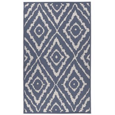 Tapis moderne intérieur et extérieur bleu 123x180