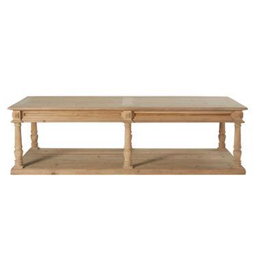 Table basse 2 plateaux 6 pieds sculptée Mahault