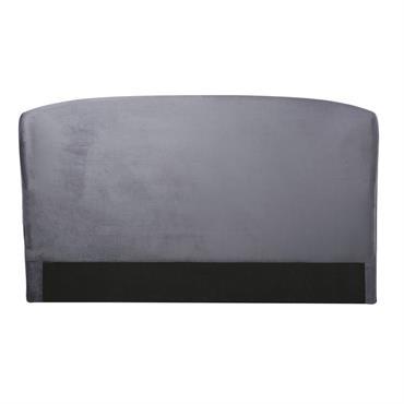 Tête de lit 160 en velours gris Tara