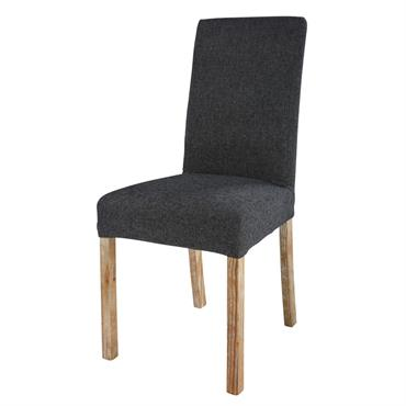 Housse de chaise gris charbon 47x57