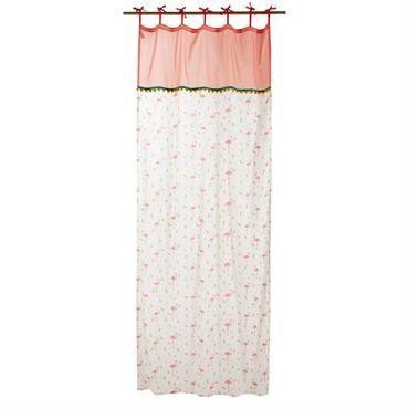 Rideau à nouettes en coton motifs tropicaux à l'unité 110x250