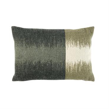 Coussin en coton et laine tissée bicolore 35x50