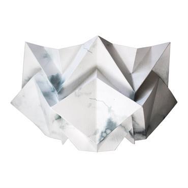 Applique murale origami en papier motif hiver