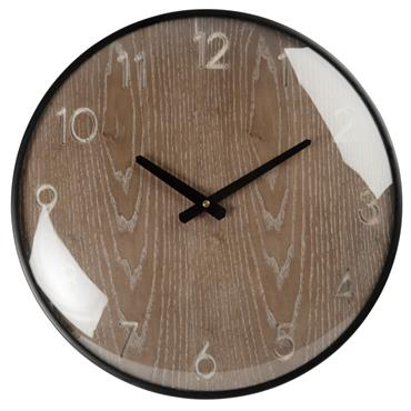 Horloge noire et marron D42