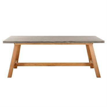 CONVIVALITÉ Pouvant accueillir jusqu'à 10 personnes, la table de jardin rectangulaire imitation béton AQUITAINE est idéale pour réunir vos amis ou votre famille. MATIÈRES BRUTES L'aspect béton de son plateau ...