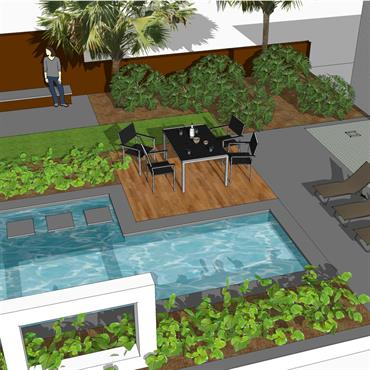 Projet de jardin contemporain  Domozoom