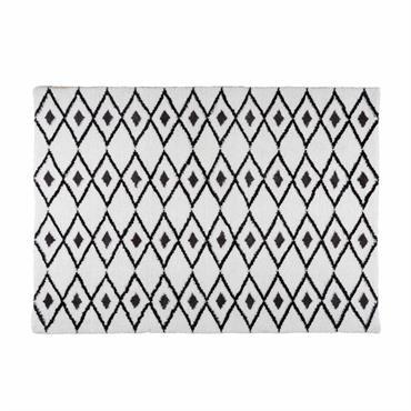 Tapis berbère noir et blanc 160x230 JYAM