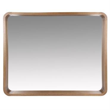 Miroir en paulownia marron 78x63