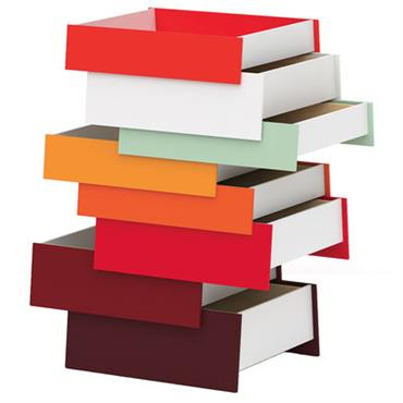 Commode Stack / 8 tiroirs - Established & Sons rouge en métal