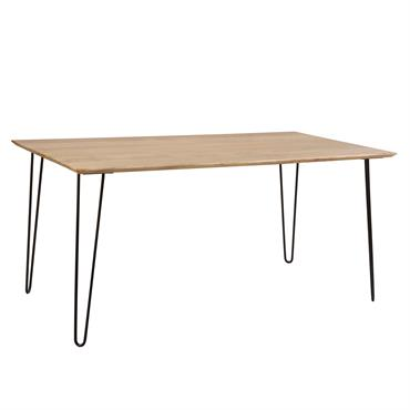 Table à manger rectangulaire en bois