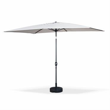 Parasol droit 2x3m rectangulaire en aluminium sable