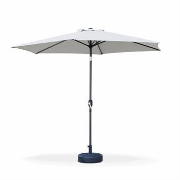 Parasol droit rond en aluminium sable D3m