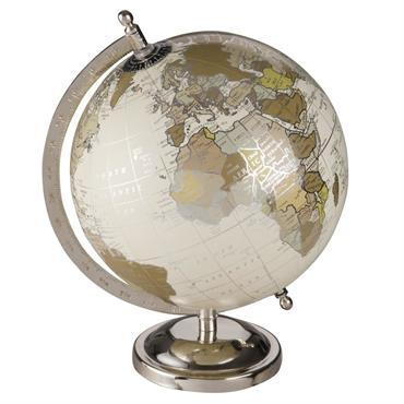 Globe terrestre carte du monde effet vieilli