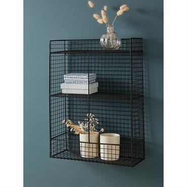 L'étagère filaire propose un rangement léger et fonctionnel. Elle apporte une touche industrielle dans toutes les pièces de la maison. Détails Dim. 36,5 x 13,5 cm. Haut. 53 cm. 2 ...