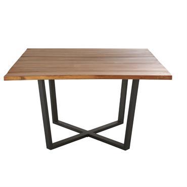 Table de jardin carrée en acacia 8 personnes L130 Lanzarote