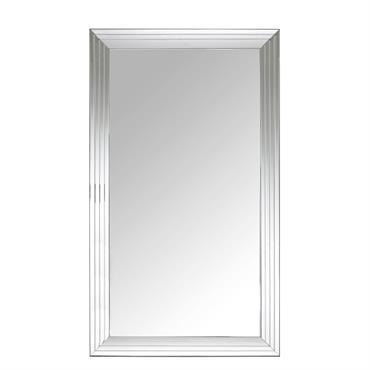 Succombez à l'élégance du métal chromé avec le miroir biseauté argenté 200x120 FIRENZE ! Chic et sophistiqué, il donnera un véritable coup d'éclat à votre intérieur grâce à son encadrement ...