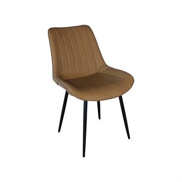 Chaise design rembourrée Camel