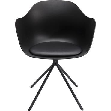 Chaise noire et acier