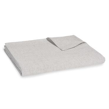 Nappe en coton gris clair 150x250cm