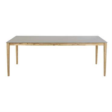 Table de jardin en ciment 8/10 personnes L220 Bergamote