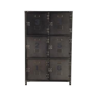 Cabinet de rangement indus 6 casiers en métal Andrews