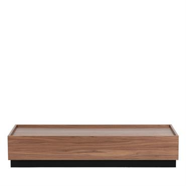 Table basse en bois 135x60cm noyer