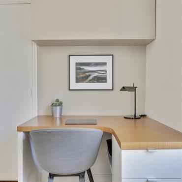 Vue d'un bureau dans un appartement