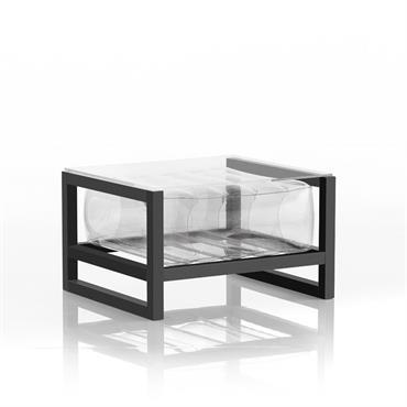 Table basse en aluminium et tpu transparent