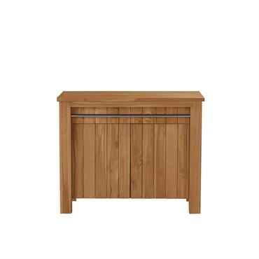 Charme et authenticité pour ce meuble sous vasque en bois de teck. Il est pratique grâce à son porte serviette intégré. Caractéristiques :Matière :teck - Couleur :naturel - Hauteur :82 ...