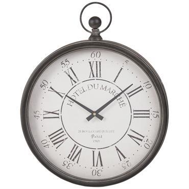 Horloge gousset en métal noir 41x51