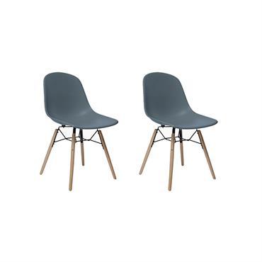 2 chaises scandinaves Gris foncé