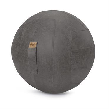 Balle d'assise design simili cuir anthracite avec poignée D65