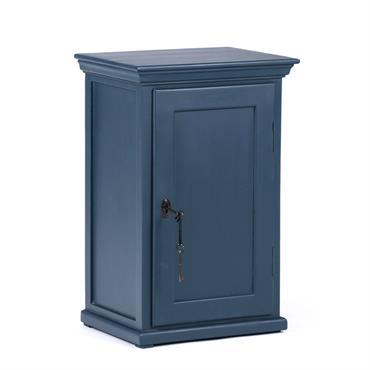 Table de chevet parisienne 1 porte bleu