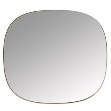 Miroir en métal doré 47x52