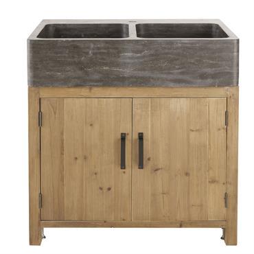 Ce produit est composé à partir de bois récupéré. Ce système permet d'offrir une deuxième vie à la matière première. Plaisirs simples, convivialité et authenticité, le meuble bas de cuisine ...