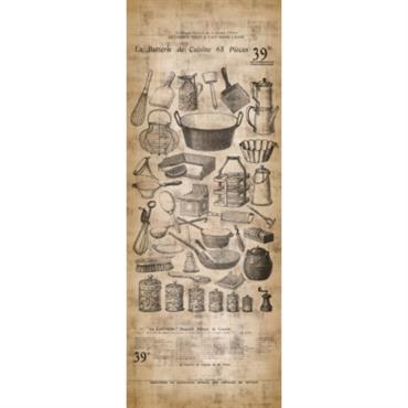 Papier peint lé unique Ustensile de cuisine vintage