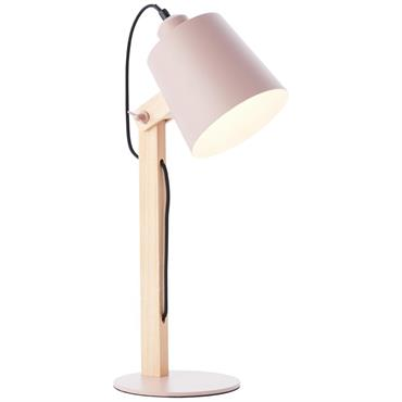 Lampe en bois rose H51