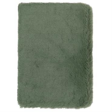 Carnet de notes imitation fourrure verte