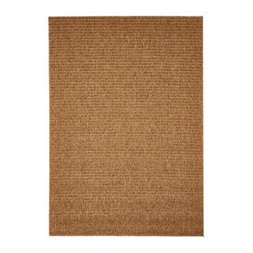 Tapis uni contemporaine en polypropylène or 133x190
