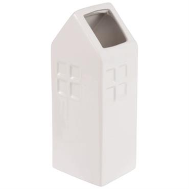 Vase maison en céramique blanche H21