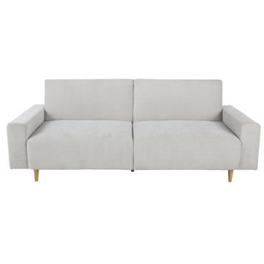 Si le minimalisme vous fait de l'œil pour l'aménagement de votre salon, alors le canapé-lit 3 places gris clair RUSSEL a tout pour vous séduire. Son assise profonde vous accueillera ...