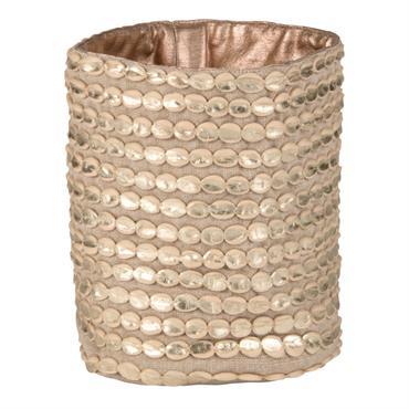 Corbeille en coton doré à relief