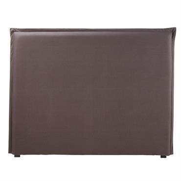 Housse de tête de lit 140 en coton gris anthracite