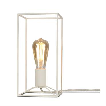 Lampe table blanche H30cm