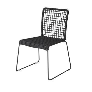 Chaise de jardin en corde noire Touraco